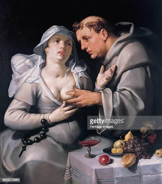 A monk and a nun 1591 Found in the collection of Frans Hals Museum Haarlem Artist Haarlem Cornelis Cornelisz van