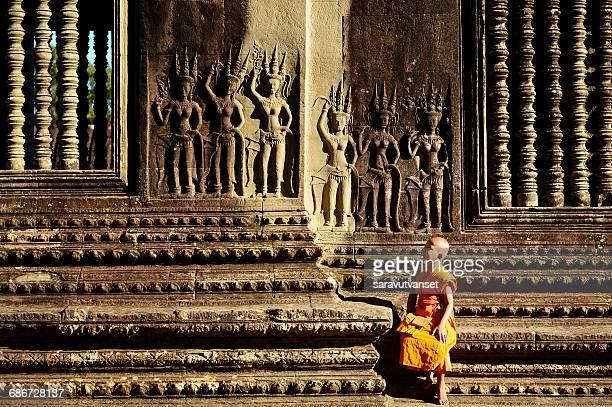 Monk at Angkor Wat, Siem Reap, Cambodia