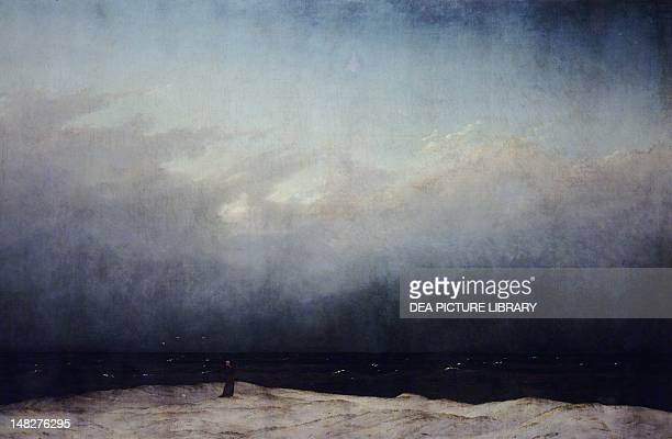 Monk by the Sea, 1808-1809, by Caspar David Friedrich , oil on canvas, 110x171 cm. ; Berlin, Schloss Charlottenburg .