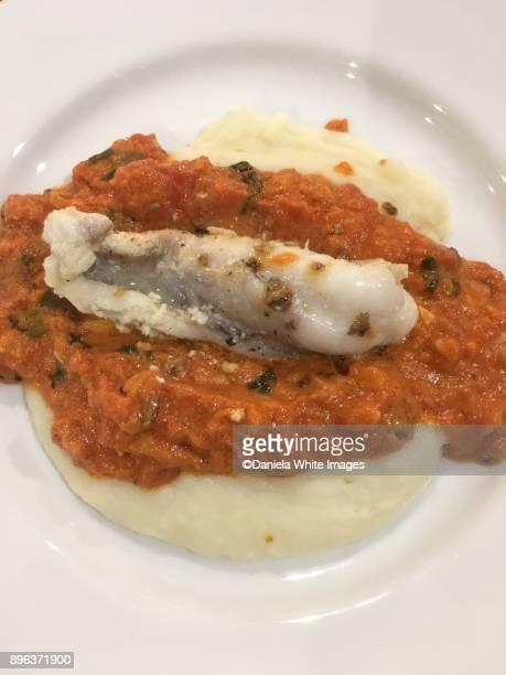 Monk fish on mash