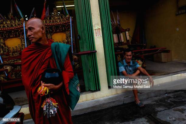 A monk is seen during The Nine Emperor Gods Festival inside the temple on October 24 2017 in Kuala Lumpur Malaysia The Nine Emperor Gods Festival...