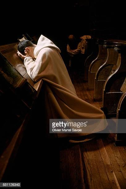 Monk Offering Prayers at Notre Dame de Melleray Abbey
