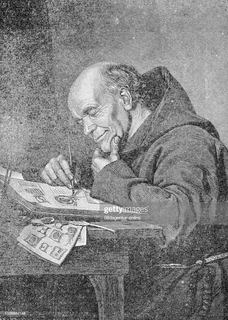 Remarkable Monk Writing In A Lonely Cell Msnch Beim Schreiben In Einer Interior Design Ideas Ghosoteloinfo