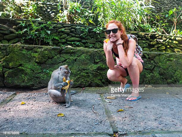 monkey forest - monkey shoes stock photos and pictures