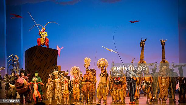 """Monkey King appears in the premiere of """"The Lion King"""" musical at Shanghai Disney Resort on June 14, 2016 in Shanghai, China."""