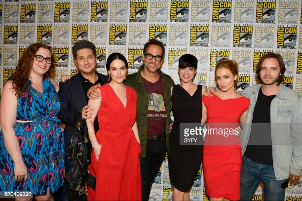 DIEGO '12 Monkeys Panel' Pictured Alicia Lutes Terry Matalas Emily Hampshire Todd Stashwick Amanda Schull Alisen Down and Aaron Stanford