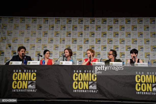 DIEGO '12 Monkeys Panel' Pictured Terry Matalas Emily Hampshire Aaron Stanford Amanda Schull Todd Stashwick and Alisen Down