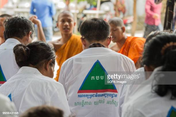 Monks at Wat Chas Pagoda seen blessing some GDP members Grassroots Democratic Party is running for the July 2018 elections with Yang Saing Koma as...