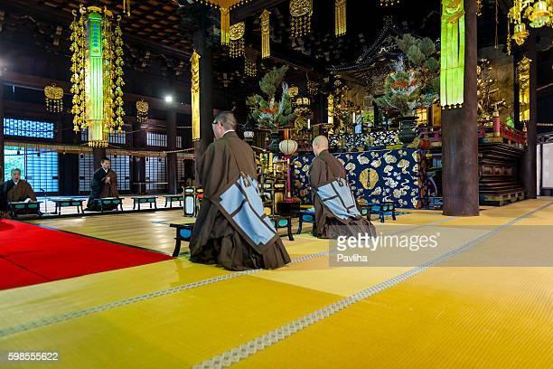 僧の歌声寺院、chion -集、京都,日本 - 詠唱 ストックフォトと画像