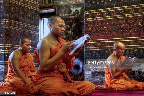 CONTENT] Monks chanting prayers mantras and names of the Buddhas at Wat Pho Bangkok Thailand It is the most beautiful sound I have ever heard
