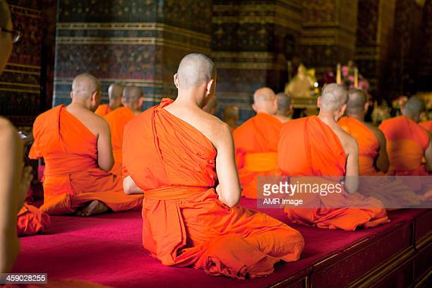 monks chanting ritual - chanting stock pictures, royalty-free photos & images