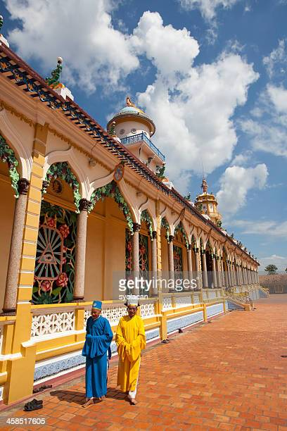 monks near cao dai - syolacan stock pictures, royalty-free photos & images