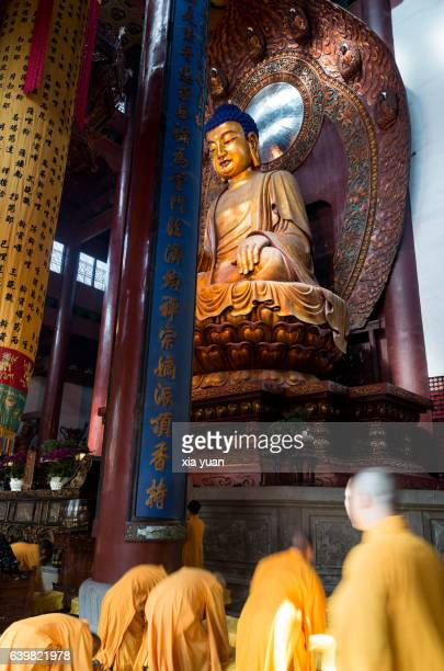monks praying sincerely to buddha,china - sincerely yours ストックフォトと画像