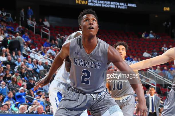 Monmouth Hawks forward Melik Martin during the College Basketball game between the Seton Hall Pirates and the Monmouth Hawks on November 12 2017 at...