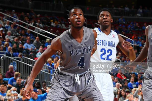 Monmouth Hawks forward Mustapha Traore during the College Basketball game between the Seton Hall Pirates and the Monmouth Hawks on November 12 2017...