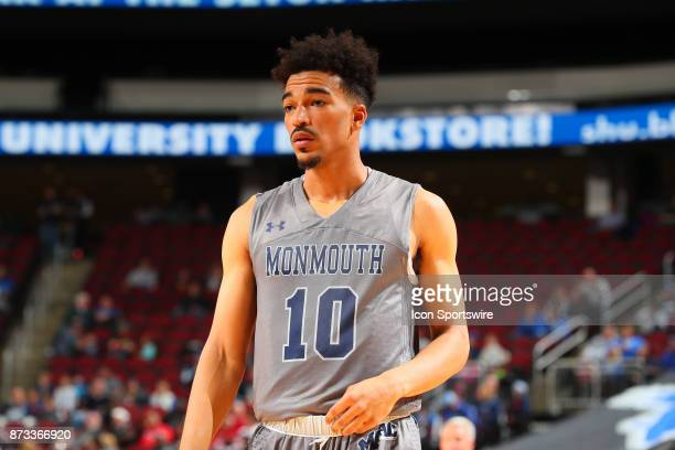 Monmouth Hawks guard Micah Seaborn during the College Basketball game between the Seton Hall Pirates and the Monmouth Hawks on November 12 2017 at...