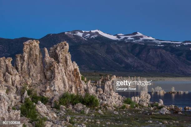 Mono Lake a large briney body of water on the eastern flank of the High Sierra Mountains is home to hundreds of species of birds and an unusual...