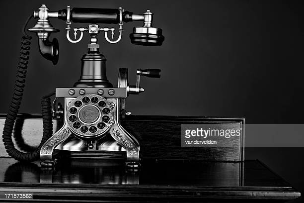 Mono Photo Of An Old-fashioned Telephone