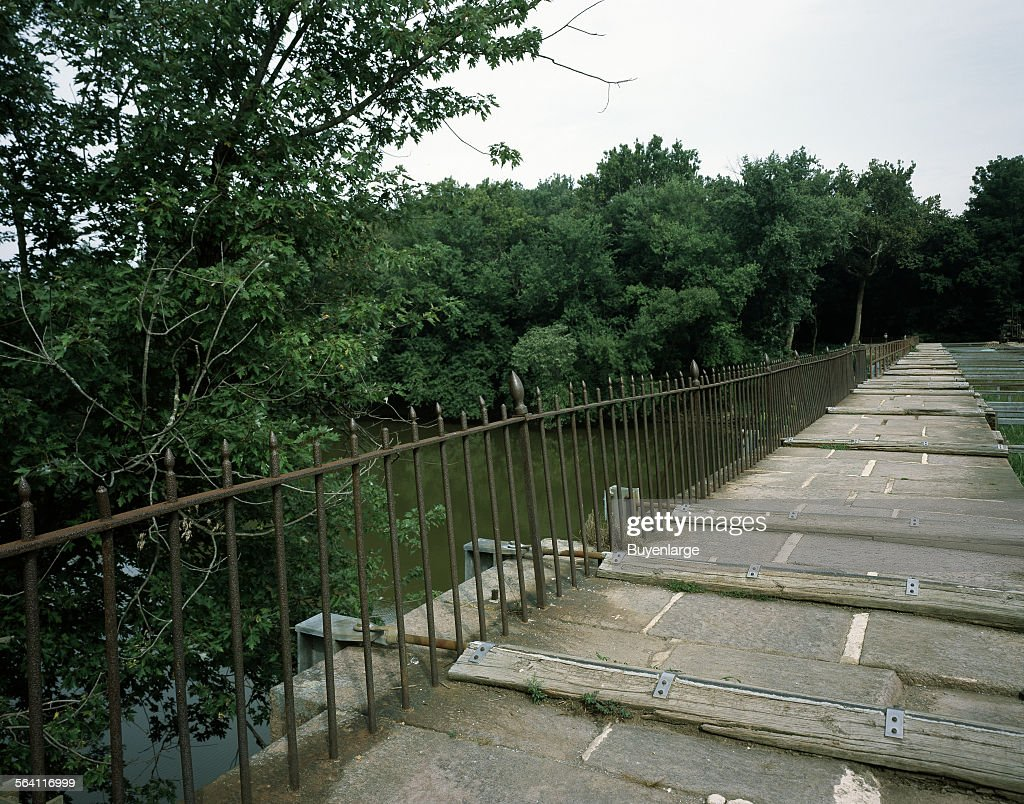 Monocacy Aqueduct in Montgomery County, Maryland, part of the Chesapeake and Ohio Canal system : News Photo