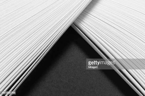 Monochrome Abstract Paper Pile
