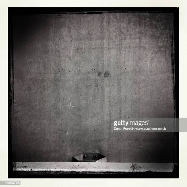 Monochrome concrete wall