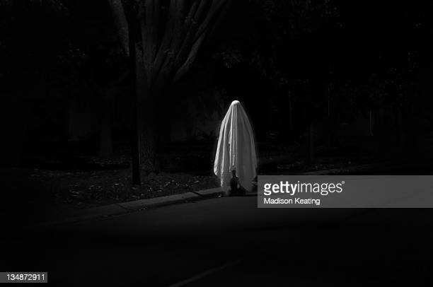 Monochrome ghost at night