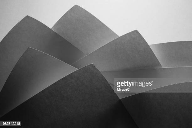 Monochrome Paper Abstract