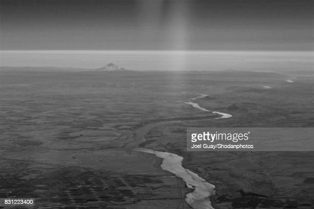 monochrome river to volcano - crop circle stock pictures, royalty-free photos & images