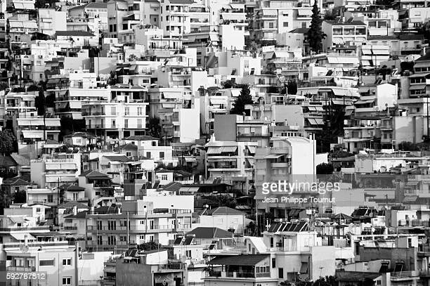 Monochrome urban landscape, Kavala, Greece
