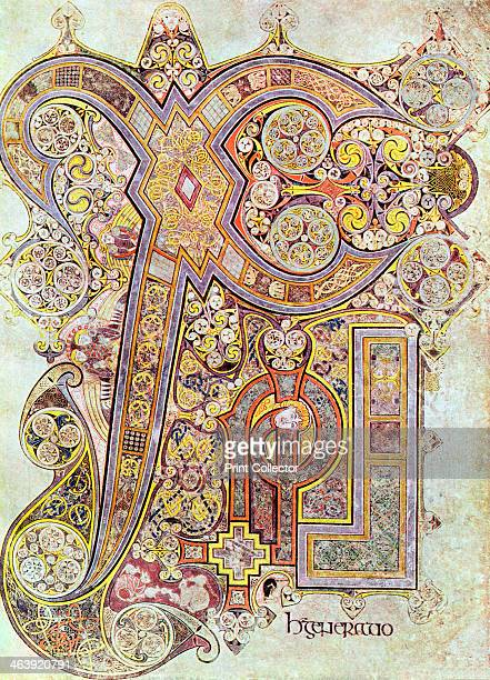 Monogram page from the Book of Kells Christi Auteum Generatio c800 The Book of Kells is a manuscript of the Four Gospels originally thought to have...