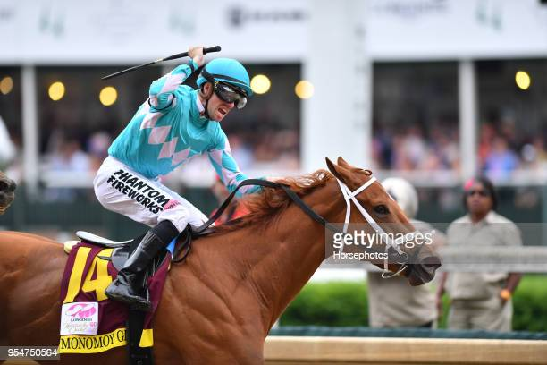 Monomoy Girl with Florent Geroux up wins the Kentucky Oaks at Churchill Downs Racetrack on May 4 2018 in Louisville Kentucky