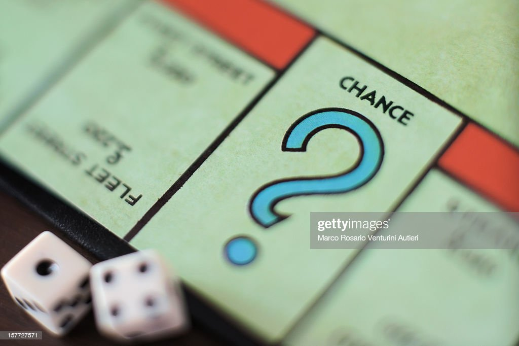 Monopoly Chance-Question mark, concept : Photo