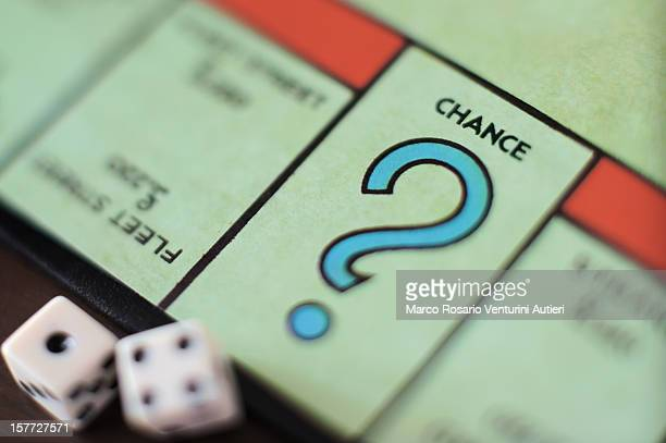 monopoly chance - question mark, concept - chance stock pictures, royalty-free photos & images