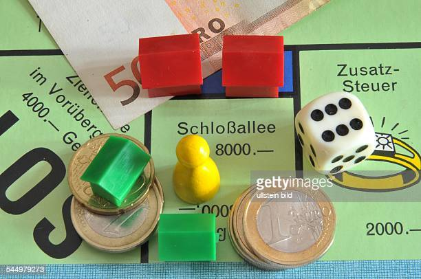 Monopoly Game field Schlossalle and supplementary tax