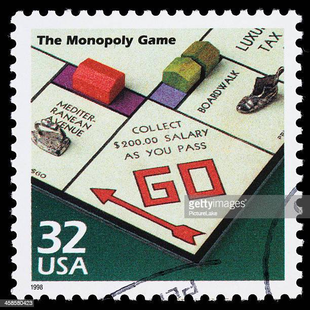 USA Monopoly Game postage stamp