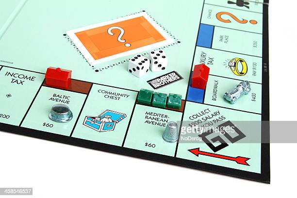Monopoly game with Go square and pieces