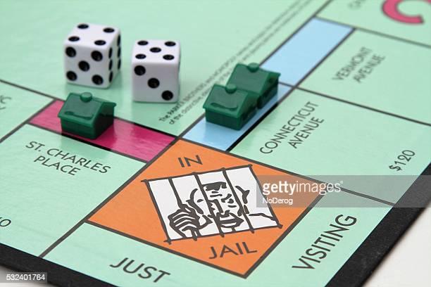 Monopólio jogo com prisão canto