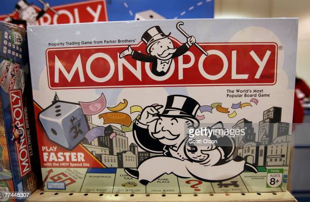 Monopoly games made by Parker Brothers a subsidiary of Hasbro are offered for sale at a Toys R Us store October 22 2007 in Chicago Illinois Hasbro...