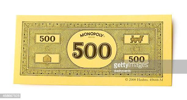 Monopoly Money 500 Dollar Bill