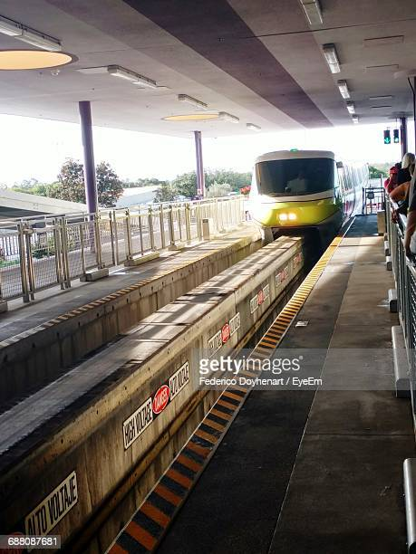 Monorail Arriving At Station
