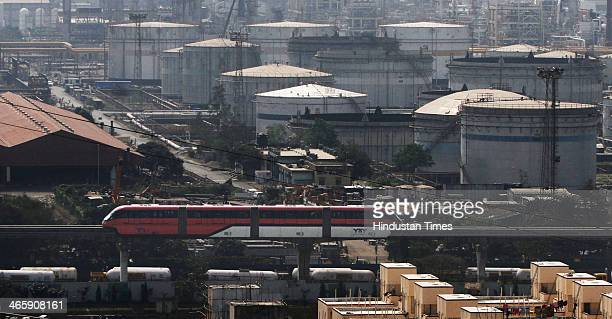 Monorail at a trial run on January 30 2013 in Mumbai India The country's first Monorail service will be inaugurated on February 1 by Maharashtra...