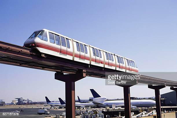 Monorail at airport