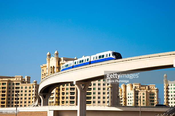 monorail, dubai - monorail stock pictures, royalty-free photos & images