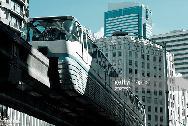Monorail in downtown Seattle