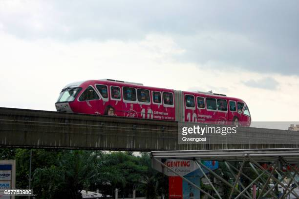 monorail in kuala lumpur - gwengoat stock pictures, royalty-free photos & images