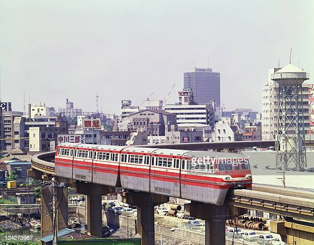 monorail - showa period stock pictures, royalty-free photos & images