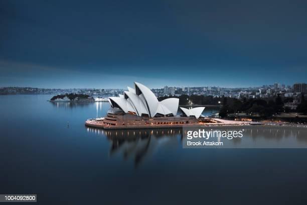 monotone colour of sydney take from harbour bridge. - sydney ストックフォトと画像