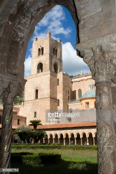 Monreale Cathedral bell tower and cloisters
