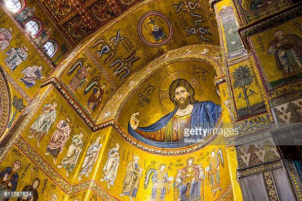 Monreale Cathedral, Monreale, Sicily, Italy.