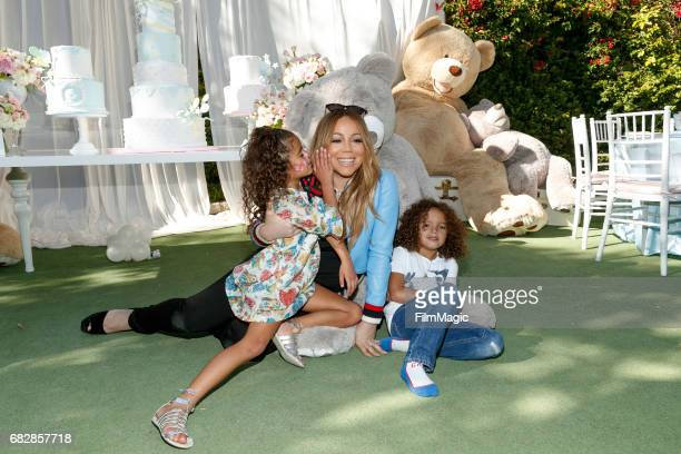Monroe Cannon Mariah Carey and Moroccan Scott Cannon attend the Moroccan Scott Cannon and Monroe Cannon Party on Mary 13 in Los Angeles California